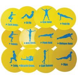 Fitness- og øvelses brikker