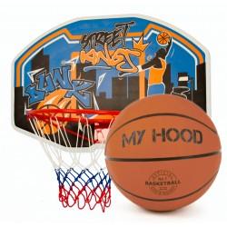 Basketsæt m/plade, net og bold