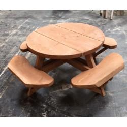 Runde Bord-/Bænkesæt Ø2m