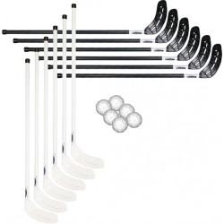 Hockey sæt med 12 stave + 6 bolde