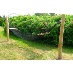 Nylon hængekøje med robinie stok
