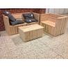 Lounge sæt i douglas - 2 bænke + bord