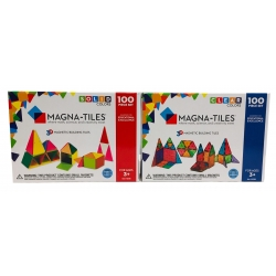Magna-Tiles - 200 dele (Solid/Clear)