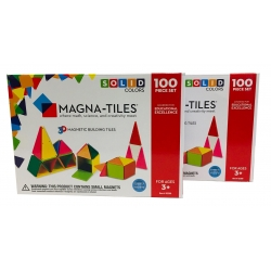 Magna-Tiles - 200 dele - Solid Colors