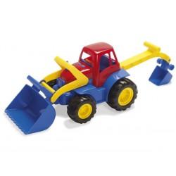 Traktor med frontlæsser og grab
