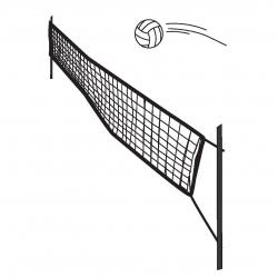 Volley kampnet 9,5x1m
