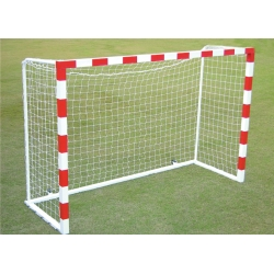 Håndbold-/ legepladsmål med rød hvid markeringer
