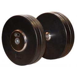Håndvægte stativ med gummibelagte vægte fra 12-20 kg.