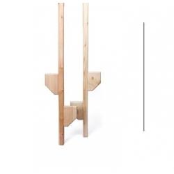 Stylter i træ Højde 179 cm. sæt