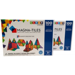 Magna-Tiles 100 dele - Clear Colors