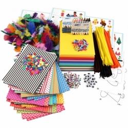 Stor kreapakke med materialer og skabeloner 0