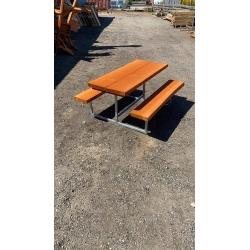 5 stk. 50mm Douglas planker  / Børnee Bord-/bænkesæt med metalstel