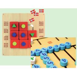 2 stk. væghængte indlæringsspil