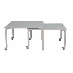 Indskudsbord sæt 1200x800 + 1000x800 med hjul, Laminat på bordplade