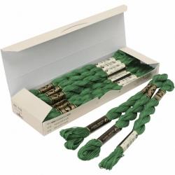 DMC perlegarn, nr. 5, grøn, 12 stk./ 1 pk. 0